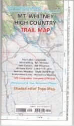 Buy map Mount Whitney High Country Trail Map by Tom Harrison Maps from California Maps Store