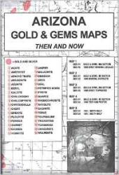 Buy map Arizona, Gold and Gems, 5-Map Set, Then and Now by Northwest Distributors from Arizona Maps Store