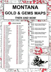 Buy map Montana, Gold and Gems, 5-Map Set, Then and Now by Northwest Distributors