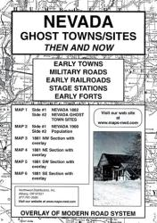 Buy map Nevada, Ghost Towns, 6-Map Set, Then and Now by Northwest Distributors in Nevada Map Store