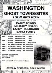 Buy map Washington, Ghost Towns, 6-Map Set, Then and Now by Northwest Distributors from Washington Maps Store