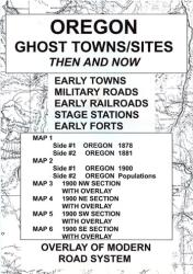 Buy map Oregon, Ghost Towns, 6 Map Set, Then and Now by Northwest Distributors from Oregon Maps Store