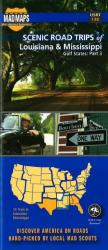 Buy map Louisiana and Mississippi, Regional Scenic Tours by MAD Maps