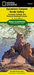 Buy map Sycamore Canyon and Verde Valley Wildnerness Areas, Map 854 by National Geographic Maps from Arizona Maps Store