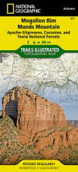 Buy map Mogollon Rim and Munds Mountain Wilderness Areas, Map 855 by National Geographic Maps from Arizona Maps Store