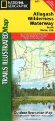 Buy map Allagash Wilderness Waterway, South, Maine, Map 401 by National Geographic Maps from Maine Maps Store