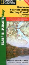 Buy map Harriman, Bear Mountain, Sterling Forest, NY, Map 756 by National Geographic Maps