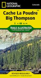 Buy map Cache La Poudre and Big Thompson, Colorado, Map 101 by National Geographic Maps from Colorado Maps Store