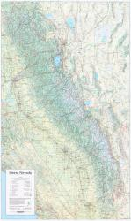 Buy map Sierra Nevada, California and Nevada, laminated by Imus Geographics from United States Maps Store