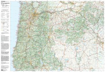 Buy map Oregon, laminated by Imus Geographics from Oregon Maps Store