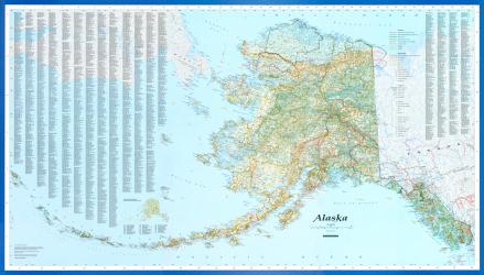 Buy map Alaska Wall Map by Imus Geographics from Alaska Maps Store