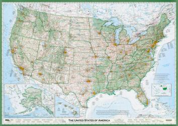 Buy map United States of America, The Essential Geography of the, laminated by Imus Geographics from United States Maps Store
