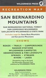Buy map San Bernardino, California Mountain Trails by Wilderness Press