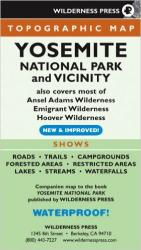 Buy map Yosemite National Park and Vicinity, California by Wilderness Press from California Maps Store