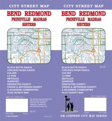 Buy map Bend, Redmond, Madras, Prineville and Sisters, Oregon by GM Johnson from Oregon Maps Store