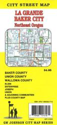 Buy map La Grande, Baker City and Northeast Oregon by GM Johnson from Oregon Maps Store