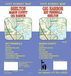 Buy map Gig Harbor, Key Peninsula and Shelton, Washington by GM Johnson from Washington Maps Store
