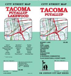 Buy map Tacoma and Puyallup, Washington by GM Johnson from Washington Maps Store