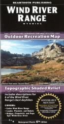 Buy map Wind River Range, Wyoming by Beartooth Publishing from Wyoming Maps Store