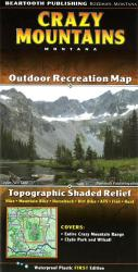 Buy map Crazy Mountains, Montana by Beartooth Publishing in Montana Map Store