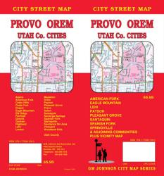 Buy map Provo, Orem and Utah County, Utah by GM Johnson from Utah Maps Store