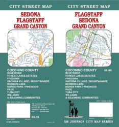 Buy map Flagstaff, Sedona and Grand Canyon, Arizona by GM Johnson from Arizona Maps Store