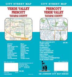 Buy map Prescott, Camp Verde, Cottonwood and Chino Valley, Arizona by GM Johnson from Arizona Maps Store