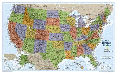 Buy map United States, Explorer, Sleeved by National Geographic Maps from United States Maps Store