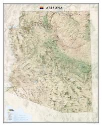 Buy map Arizona, Sleeved by National Geographic Maps from Arizona Maps Store