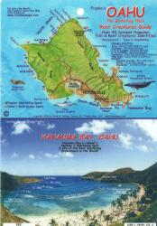 Buy map Oahu, The Gathering Place, Reef Creatures Guide by Frankos Maps Ltd. from United States Maps Store
