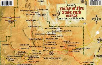 Buy map Valley of Fire State Park Nevada, Mini Map and Wildlife Card by Frankos Maps Ltd. from Nevada Maps Store