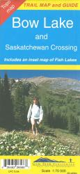 Buy map Bow Lake and Saskatchewan Crossing by Gem Trek from Alberta Maps Store