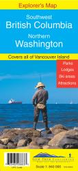 Buy map British Columbia, Southwest and Washington, Northern by Gem Trek from Canada Maps Store