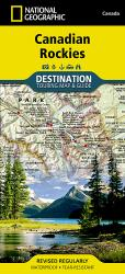 Buy map Canadian Rockies DestinationMap by National Geographic Maps from Canada Maps Store
