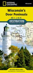 Buy map Wisconsins Door Peninsula DestinationMap by National Geographic Maps from Wisconsin Maps Store