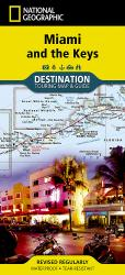 Buy map Miami, Florida and the Keys Destination Map by National Geographic Maps from Florida Maps Store