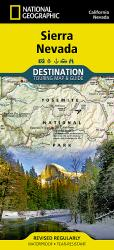 Buy map Sierra Nevada DestinationMap by National Geographic Maps from United States Maps Store