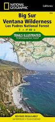 Buy map Big Sur, Ventana Wilderness and Los Padres Natl Forest, Map 814 by National Geographic Maps from California Maps Store