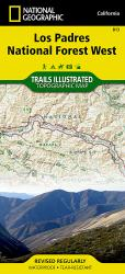 Buy map Los Padres National Forest, West, Map 813 by National Geographic Maps from California Maps Store