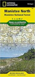 Buy map Manistee National Forest, North, Map 758 by National Geographic Maps in Michigan Map Store