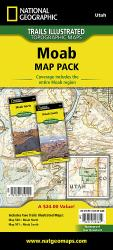 Buy map Moab, Map Pack Bundle by National Geographic Maps from Utah Maps Store