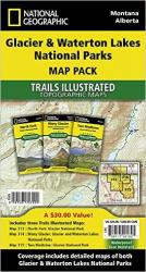 Buy map Glacier and Waterton Lakes National Parks, Map Pack Bundle by National Geographic Maps from United States Maps Store
