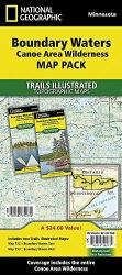 Buy map Boundary Waters Canoe Area Wilderness, Map Pack Bundle by National Geographic Maps