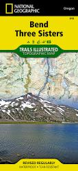 Buy map Bend and Three Sisters, OR, Map 818 by National Geographic Maps from Oregon Maps Store