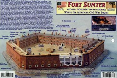 Buy map Fort Sumter National Monument, South Carolina by Frankos Maps Ltd.