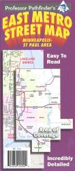 Buy map Minneapolis-St Paul, Minnesota, East Metro by Hedberg Maps