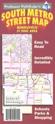Buy map Minneapolis-St Paul, Minnesota, South Metro by Hedberg Maps