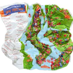 Buy map New York City, NY Junior Crumpled City Map by Palomar S.r.l.