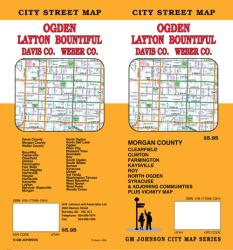 Buy map Ogden, Layton, Bountiful, Davis County and Weber County, Utah by GM Johnson from Utah Maps Store