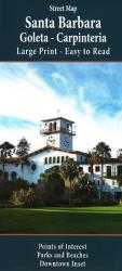 Buy map Santa Barbara, California, Large Print by GM Johnson